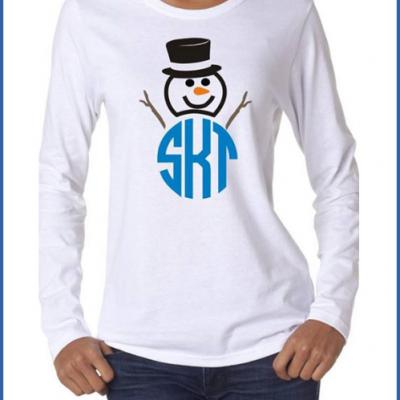 Monogrammed Snowman