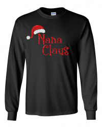 CH850-Nana Claus Long Sleeve Tee