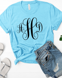 Fancy Swirl Monogram T-shirt