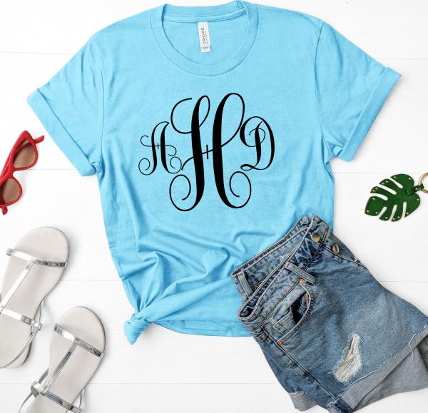 Fancy Swirl Monogram Shirt