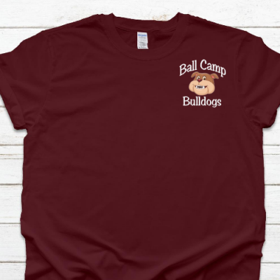 Ball Camp Bulldogs LC Maroon Tee