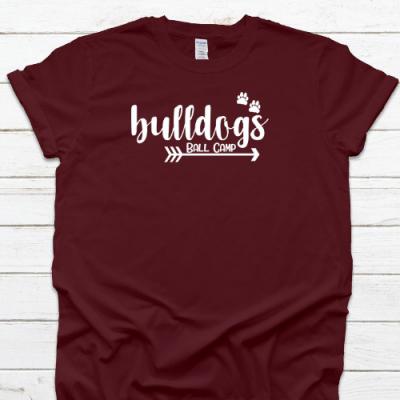 Bulldogs Arrow Paw Maroon Tee