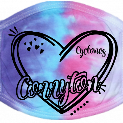 Corryton Heart Face Mask Cotton Candy