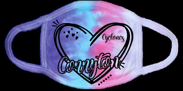 Corryton Heart Face Mask Cotton Candy
