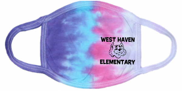 Tie Dye Cotton Candy Cat Mask