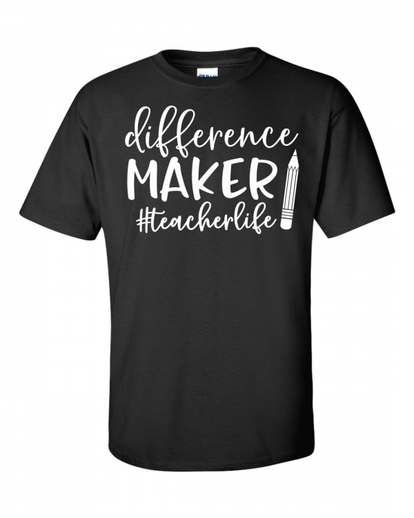 Teacherlife Difference Maker Blk