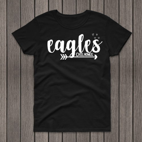 Eagles Chilh Black Tee