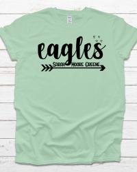SMG106-Eagles Arrow & Hearts T-shirt