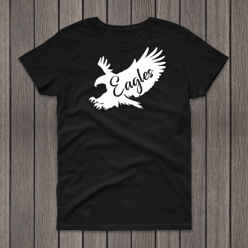 Flying Eagle Black Tee