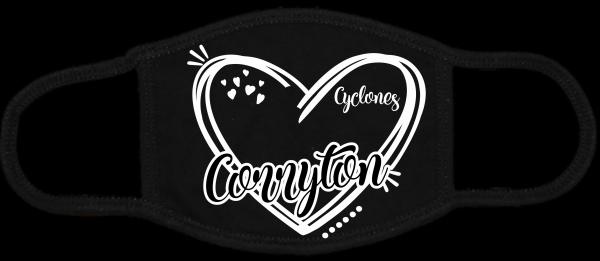 Heart Corryton Black Mask