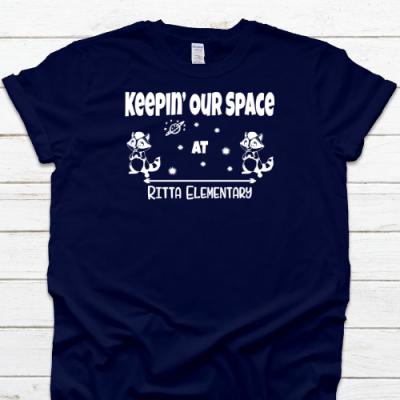 Keepin Space Navy Tee