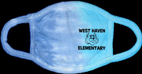 Tie Dye Lagoon Cat Mask
