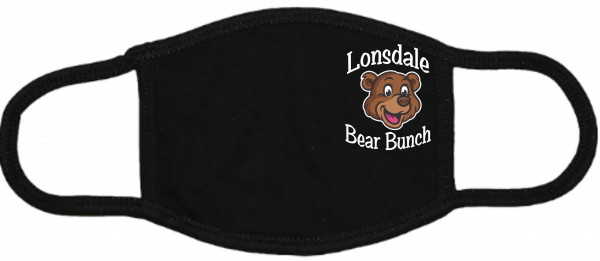 Lonsdale Bear Bunch Black Mask