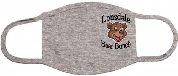Lonsdale Bear Bunch Gray Mask