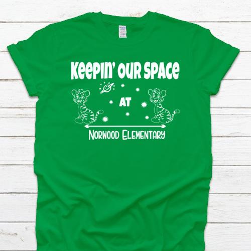 NE Space Green Tee