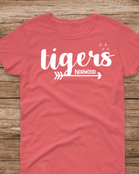 NE100-Tigers Arrow & Hearts T-shirt