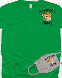 NE105-Color Tiger Head Left Chest Image Combo