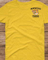 NE103-Color Tiger Head Left Chest T-shirt