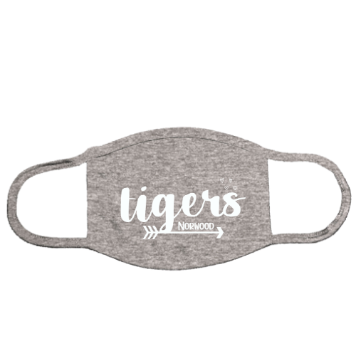 NE Tigers Gray Mask