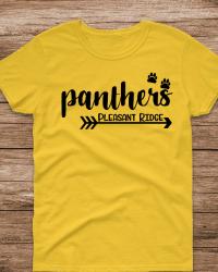 PR100-Panthers Arrow & Paw T-shirt
