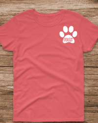 PR103-PRES Paw Left Chest Design T-shirt