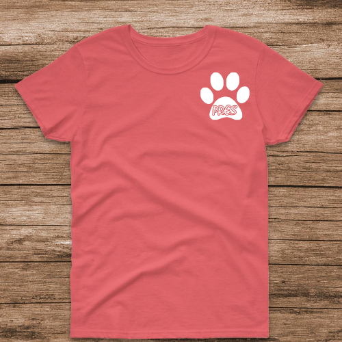 PR Paw Coral Tee