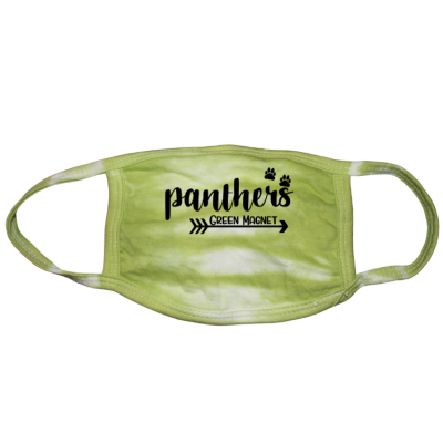 Panthers Paw Green Tie Dye Mask