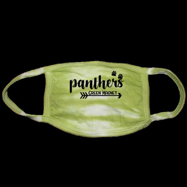 Panthers Paw Green Tie Dye Mask