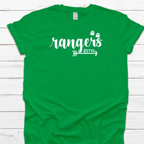 Rangers Arrow Paw Green Tee