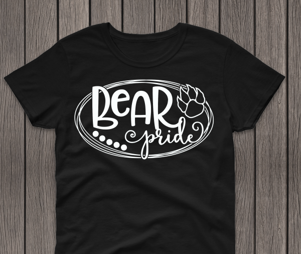 Bear Pride Black Tee