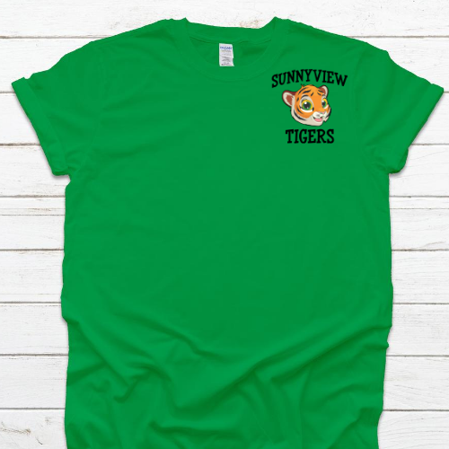 SP Left Chest Tiger Green Tee