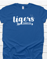SP100-Tigers Arrow & Hearts T-shirt