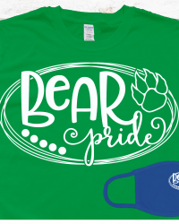 SH102-Bear Pride T-shirt/Mask Combo