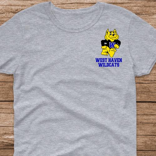 WH Wildcat LC Sp Gray Tshirt