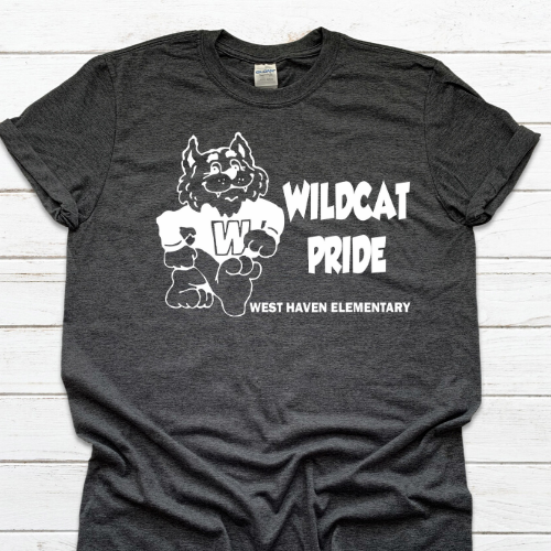 WH Wildcats Black Tshirt