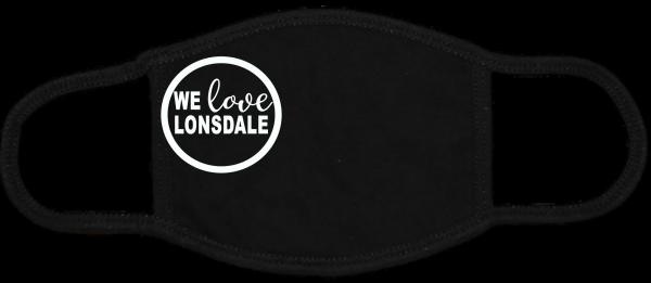 We Love Lonsdale Black Mask