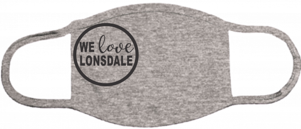 We Love Lonsdale Gray Mask