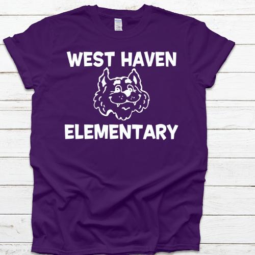 West Haven Elem Tshirt Purple