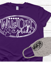 WV102-Wildcat Pride T-shirt/Mask Combo