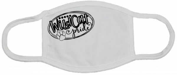 Wildcat Pride White Mask