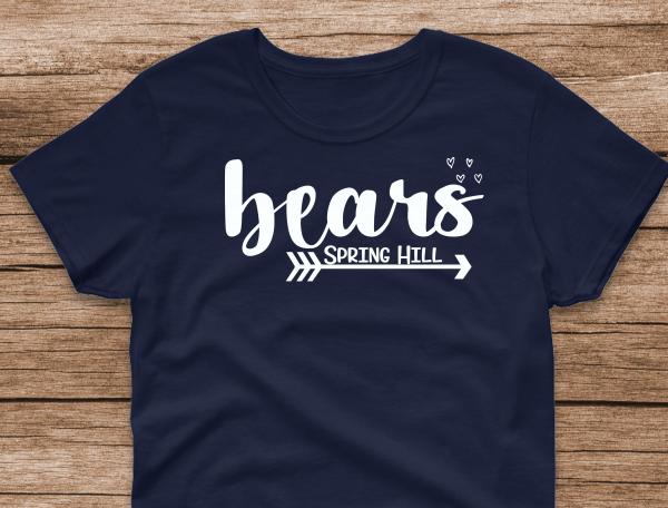bears with arrow underneath Navy