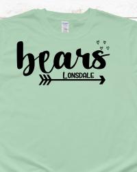 LE106-Bears Arrow and Hearts T-shirt