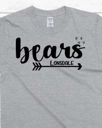 LE106-Bears Arrow and Hearts T-shirt