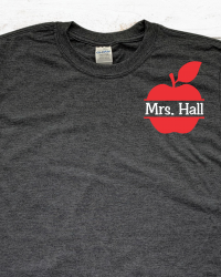 ED202-Personalized Teacher Apple T-shirt