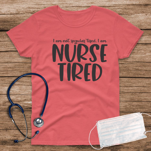 Nurse Tired Coral