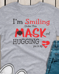 ED200-I'm Smiling Under This Mask T-shirt