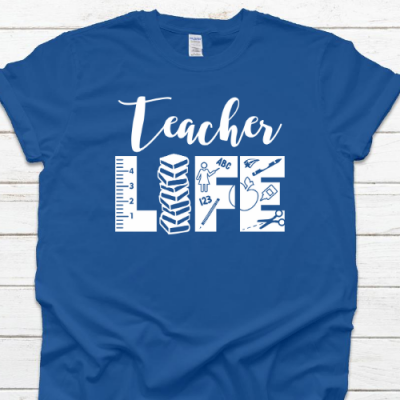 teacher life Tshirt royal