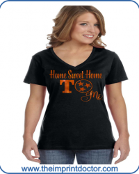 GN952-Home Sweet Home To Me Orange Glitter Tee