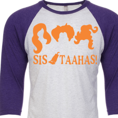 Sistaahs Purple Raglan