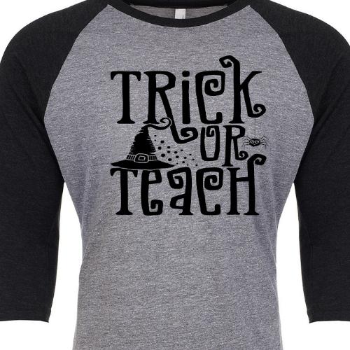 Trick or Teach Blk Slv Raglan